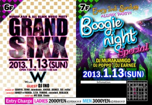 GRAND SIXX and Boogie night Special @名古屋のクラブ W